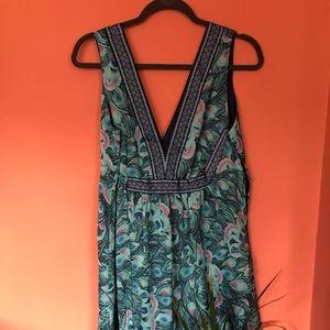 H&M silk like dress. Lined. Worn once.